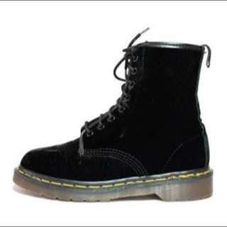 Black Velvet Doc Martins