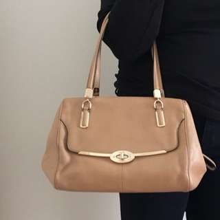 Pending- Coach Leather Small Madison Tan/camel Handbag