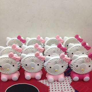 Kipas Mini Portable Karakter Hellokitty
