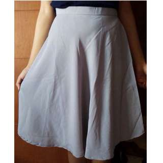 Silver Flare Skirt