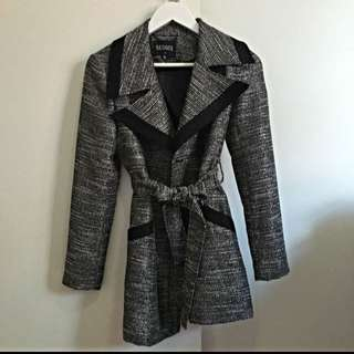 Black Metallic Coat