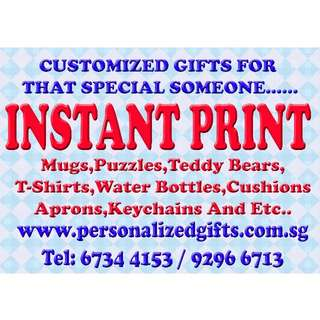 Express Printing Service In 30mins Customise,Personalized Gifts In Town