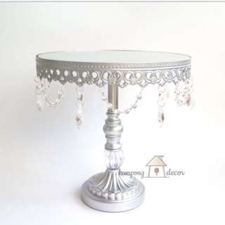 Silver Lace Cakestand