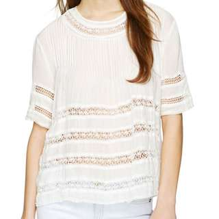 Wilfred White Bohemian Top