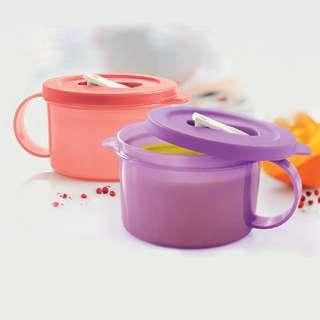 BN Tupperware® - CrystalWave Soup Mug Set (2) 460ml