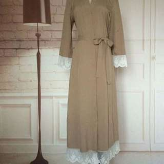 Abaya Cardigan With Lace Details