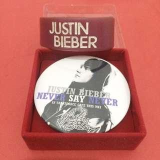 Pin & Wristband Justin Bieber