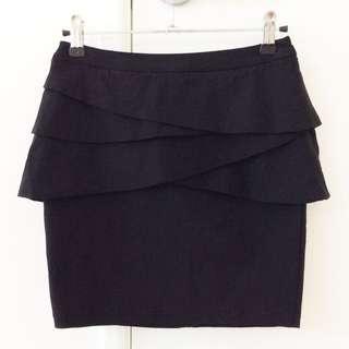 Peplum Mini Skirt Size 8