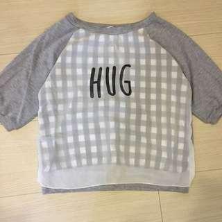 Retro Girl Hug短版上衣