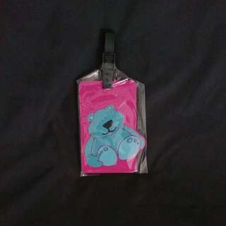 Price Reduce To $3 - Blue Bear On Pink Luggage Tag