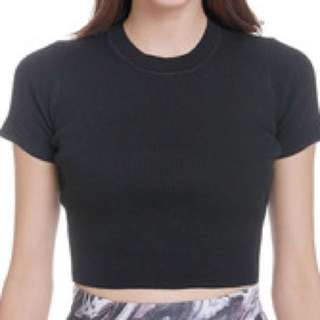 MDS knit cropped top