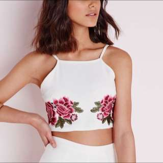 Missguided Size 8 Crop Top