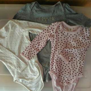 Take All!! H&M/Circo Baby Girl Onesies
