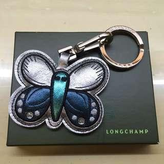 全新longchamp皮革鑰匙圈