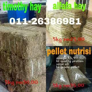 alfafa hay,timothy hay,oaten hay,pellet nutrisi