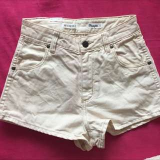 Wrangler white Hi Cheeky Shorts