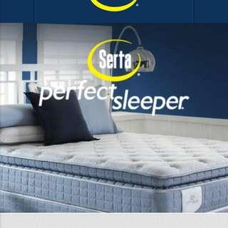 King Serta Perfect Sleeper Pillowtop Mattress And Split Boxspring