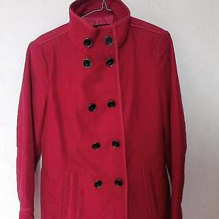Red Winter Coat Keren