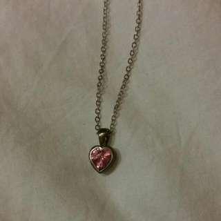 💲Pink Heart Gemstone Necklace