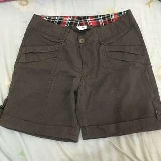 Dark Brown Preloved Shorts