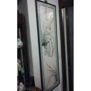 Vintage Chinese Painting Display