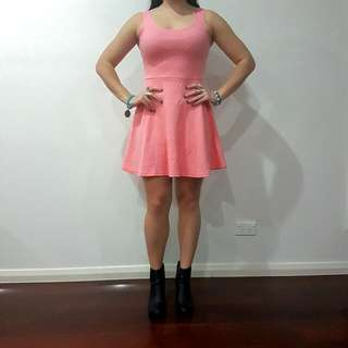 Size 12 Light Pastel Pink Peplum Dress