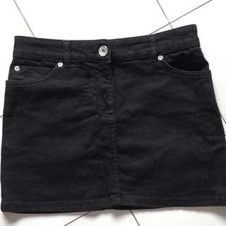 Dorothy Perkins 2000s Denim Mini Skirt (Black)
