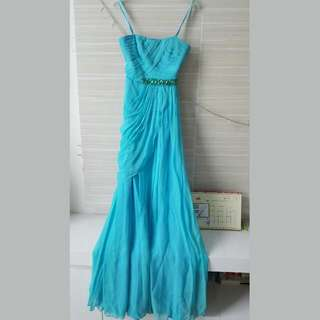 Marry Merry evening dress (Light blue/Aquamarine)