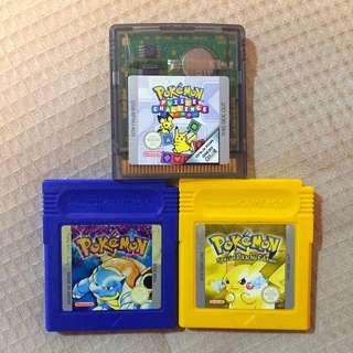 3x Pokémon Games