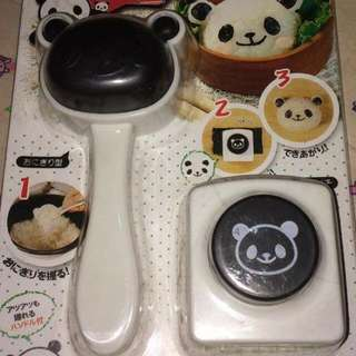 Bento Panda Rice Mold With Puncher