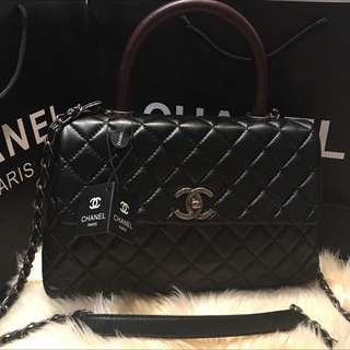 New 2016 Chanel Coco Bag / dark Red Handle