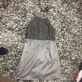 BNWT Grey/ silver Embellished Dress Size M