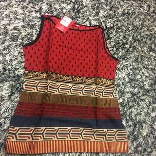 BNWT Cotton Printed Top Size S
