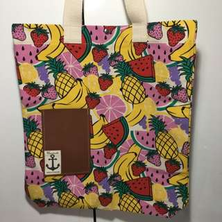 NEW Summer Fruit Canvas Tote Bag