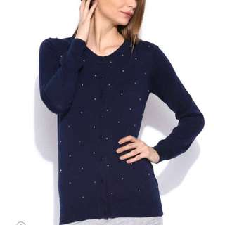 BNWT Navy Sweater Embellished XS /S