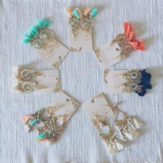 Tassel Dangling Bohemian Earrings
