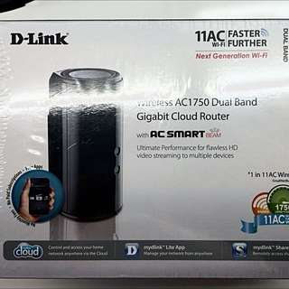 D-link Dual-band AC1750 Wireless Router Gigabit AC Smart Beam