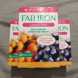 FAB IRON Liquid Iron 20 Sachets/pack