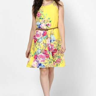 BNWT Yellow Spring Dress Size S