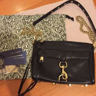 Rebecca Minkoff $319 Mini Mac In Black Colour