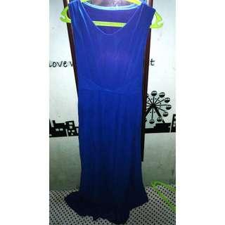 Preloved Long Dress Blue