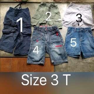 Preloved Boys Pants Size 3T 4T 5T ( Celana Anak Jeans & Bahan