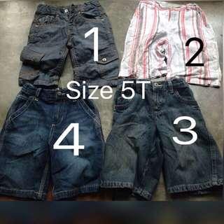 Preloved Boy Pants Size 5T ( Celana Anak Jeans & Bahan )