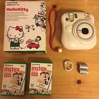拍立得Mini25 Kitty特別版 (二手保存近全新)