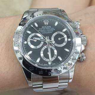Rolex Cosmograph Daytona Ref: 116520 Stainless Steel Black Dial
