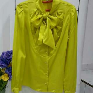 Lime Yellow Working Attire