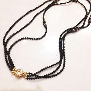 Kalung Necklace Hitam Pearl