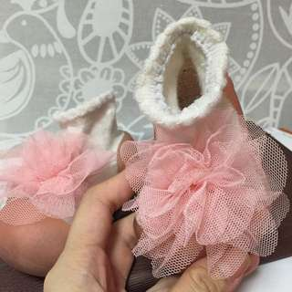 [price Reduced] Attipas Baby Soft Shoes Pink Lace Flower