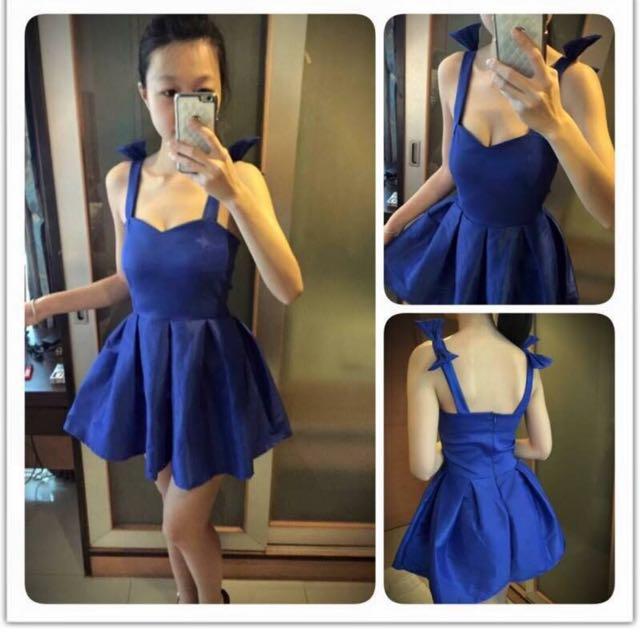 藍色仙度瑞拉漂亮洋裝