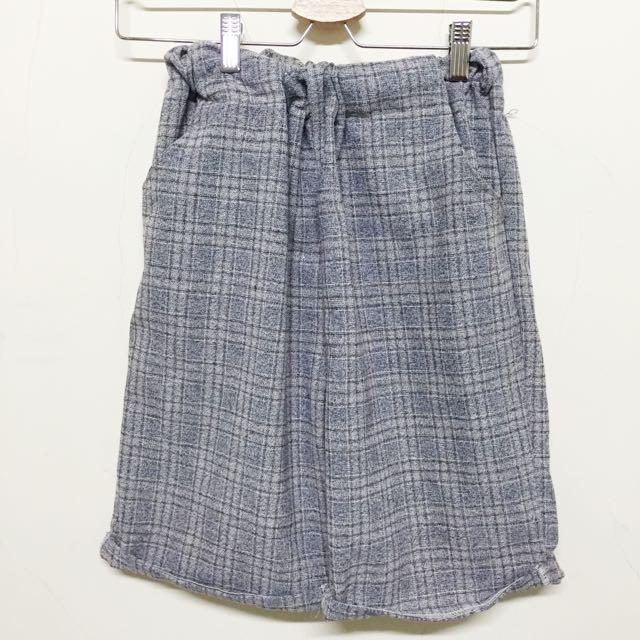 格紋復古五分老爺褲 #兩百元短褲